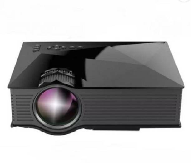 QAWACHH Mini Home Theater Cinema Video WiFi Projector (Black) (1200 lm) Portable Projector
