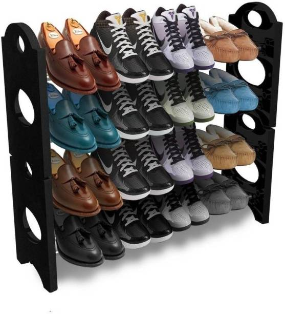 XCREET 4 Layer Foldable shoes rack  Portable  For Indoor and Outdoor Metal, Plastic Shoe Rack