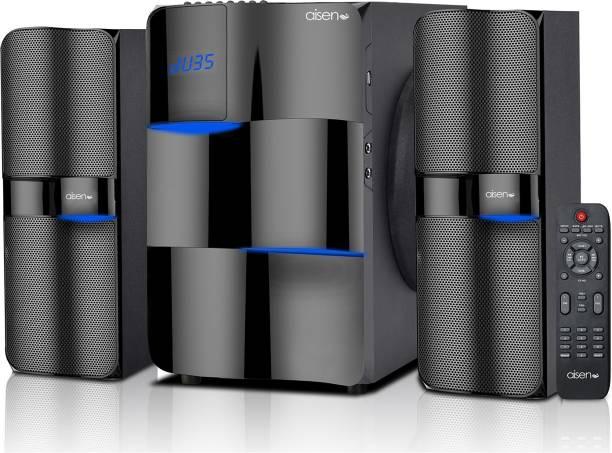 AISEN 120W RMS 2.1 Channel Multimedia Speaker 120 W Bluetooth Home Theatre Black, Stereo Channel
