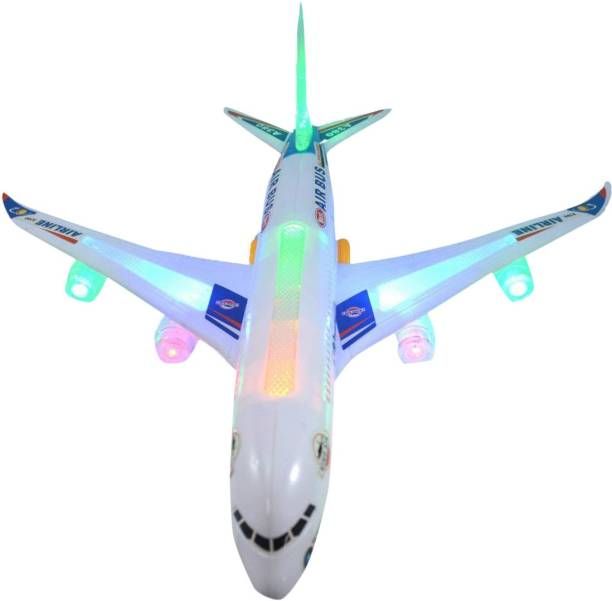 IndusBay Aeroplane Toy for Kids, Battery Operated Airplane Toy with LED Lights and Music Toy for Kids