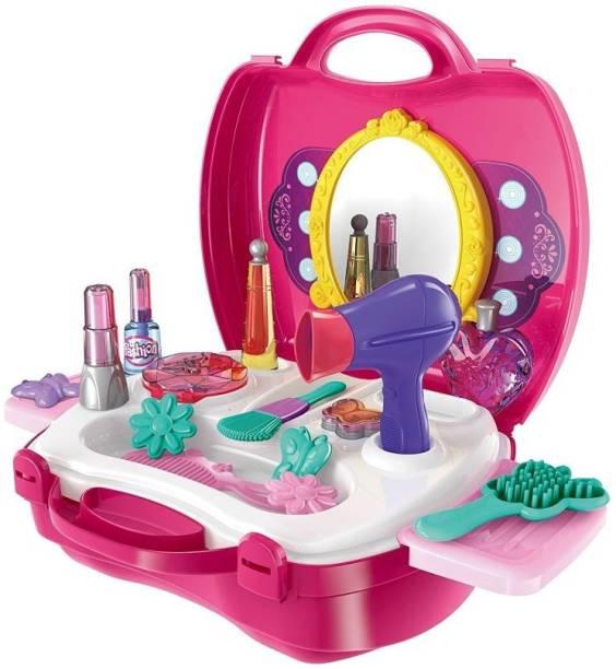 NGEL Girls Bring Along Beauty Suitcase Makeup Vanity Toy Set