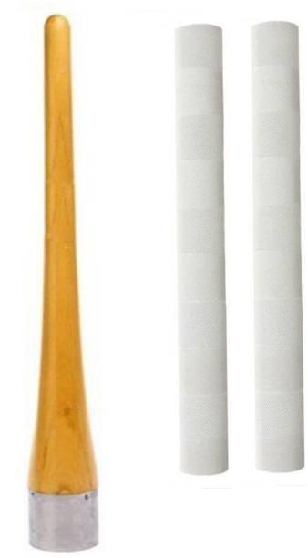 Raider Set of 2 Cricket Bat Grip + One Wooden Cricket Bat Grip Cone ( Gripper)