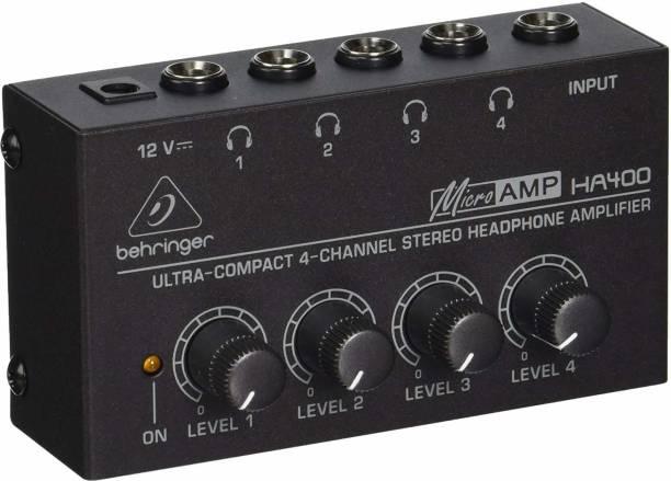 Behringer HA400 4-Channel Headphone Amplifier Portable Headphone Amplifier
