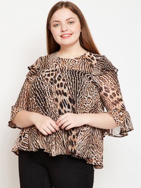 217c55fb38 Animal Print Tops - Buy Animal Print Tops Online at Best Prices In ...