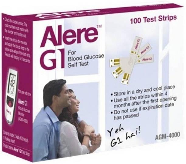 Alere G1 G1100 100 Glucometer Strips