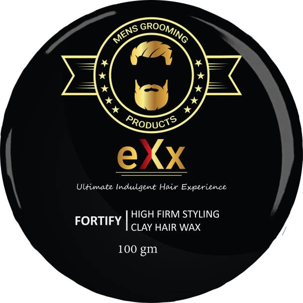 eXx Styling clay hair wax for men - Strong and long lasting hold, Restyling, Matte Finish, Adds Volume, 100gm Hair Wax