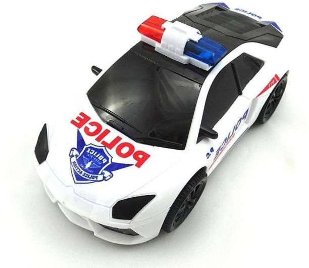 PS Aakriti 3D Lights Police Car with Sound   Toy for Kids Gift (multi color )