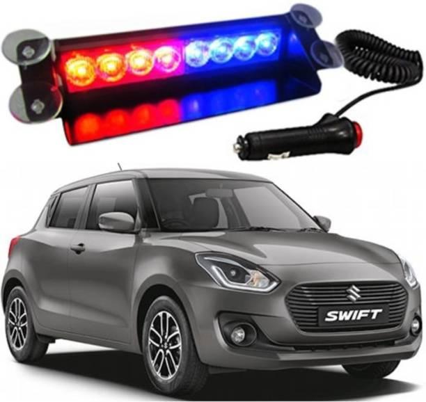BRPEARl 8 LED Police Car Flashing Lights for - Swift Interior Light Car LED for Maruti Suzuki (12 V, 35 W)