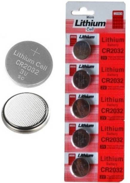INDITRUST Micro Lithium Cell CR2032 Coin  3v PACK of 5  Battery