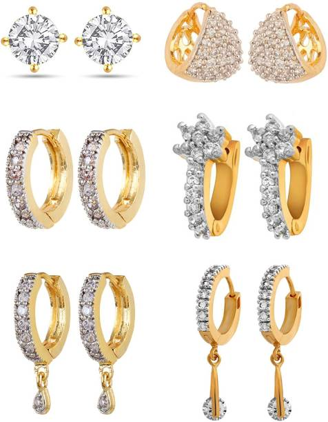 018b4248c You Bella Stylish Fancy Party Wear Jewellery Earrings Alloy Earring Set
