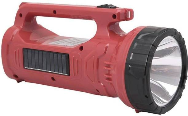 GLOWISH MINI PORTABLE HANDHELD RECHARGEABLE OUTDOOR SEARCH LAMP WITH SOLAR RECHARGEABLE Torch Emergency Light