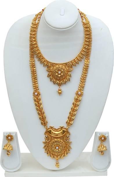 c5768c1d112 Lookethnic Antique fern design necklace set Ruby Copper Plated Copper Necklace  Set