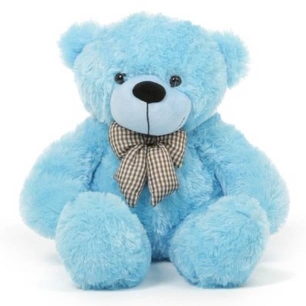 KIDZ Zone 4 feet Jumbo Blue Teddy Bear Best For Gift  - 122 cm