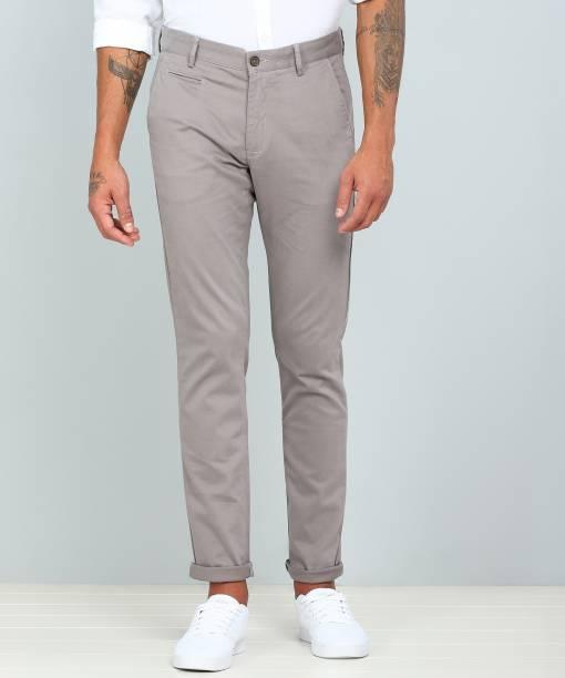 Arrow Sport Regular Fit Men Grey Trousers