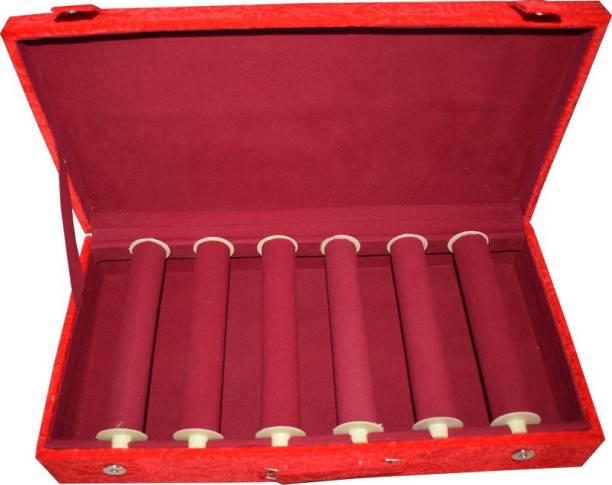 Aadhya Plain 6 Rods Bangle Box (Maroon) Vanity Box