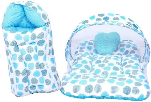 RBC RIYA R blue dot combo combo of net bed and sleeping bag crib