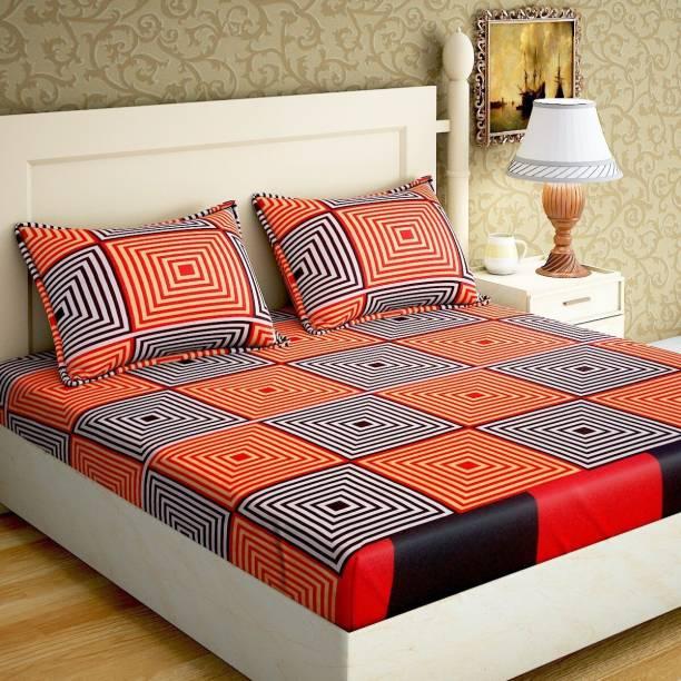 Home Elite 144 TC Microfiber Double Geometric Bedsheet