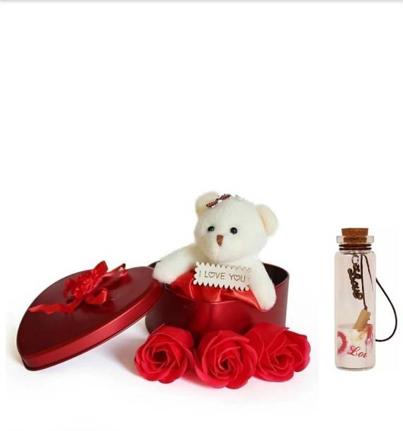 Stylin Soft Toy, Message Pills, Showpiece, Artificial Flower Gift Set