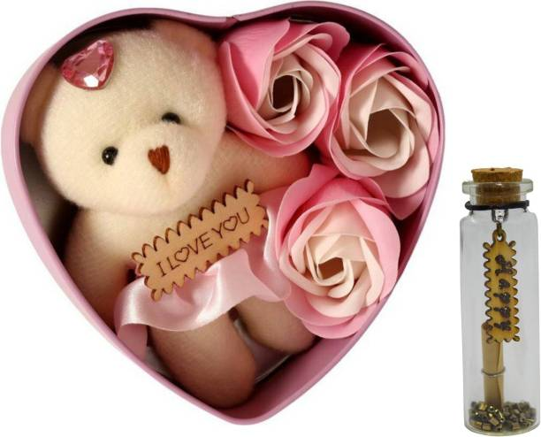 ME&YOU Message Pills, Artificial Flower, Soft Toy Gift Set