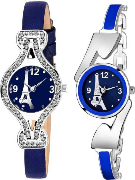 3bf09fe8375 True Colors Blue Stone And Blue Paris Fashionable Analog combo Analog Watch  - For Women