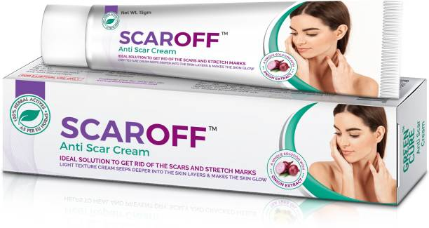 GREEN CURE Scaroff Scar removal cream for pimple marks and dark spots with Onion & Magnolia extract