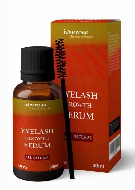 Ivenross Eyelash Growth Serum For Thicker & Fuller All Natural (Non-Toxic) With Eyelash Brush