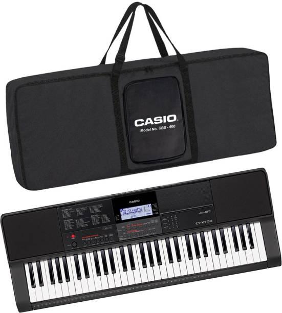 CASIO KS43 + CBC600 Black CT-X700 + CBC600 Black Carry Case Digital Portable Keyboard