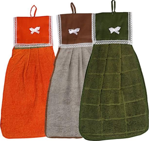 KUBER INDUSTRIES Cotton 3 Pieces Washbasin Napkin Towel Set (Multi)-CTKTC3852 Multicolor Napkins