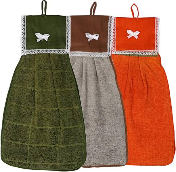 KUBER INDUSTRIES Cotton 3 Pieces Washbasin Napkin Towel Set (Multi)-CTKTC3851 Multicolor Napkins