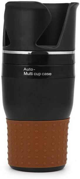 AutoRight Multifunctional Car Food Drink Cup Holder, Portable Vehicle Central Seat Cup Cell Phone Drinks Holder Organizer 360 Degree Rotation Auto Storage Box for Sunglass Pen Coins Drink Car Bottle Holder