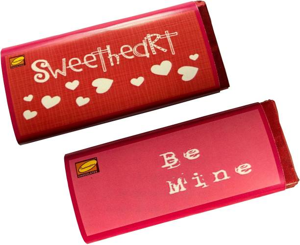 Innovative Valentine Chocolates with Combo of Love Message SWEETHEART BE MINE Bars