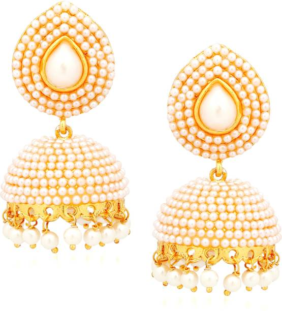 8202c7bfd Divastri Bridal Wedding Traditional Gold plated Fancy party wear Kundan  Jhumkas/ Jhumka Earrings For Women