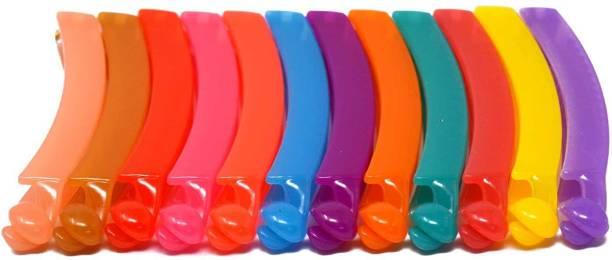 Fashion Factory Multi Color Banana Hair Clip Pack Of 12 Banana Clip Banana Clip