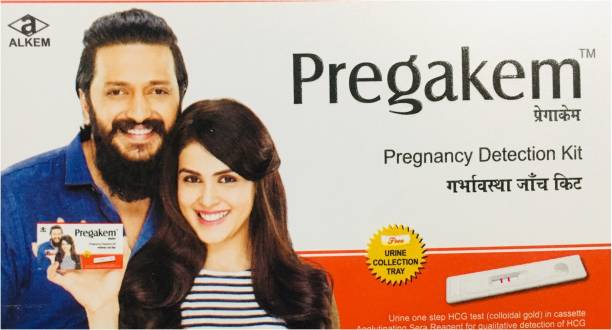 pregakem PREGNANCY DETECTION KIT..WITH URINE COLLECTION TRAY.. (3 TEST KIT PACK) Pregnancy Test Kit