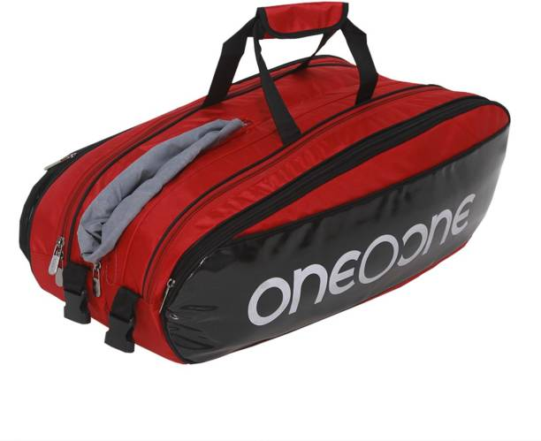 One O One Collection Four Compartment Red + White Print Racket