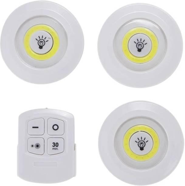 Fiiasa 3PCS Under Cabinet Light Wireless Smart LED Night Lamp Battery Power Remote Control Lamp for Kitchen wardrobe Cupboard Stair Corridor Flush Mount Ceiling Lamp