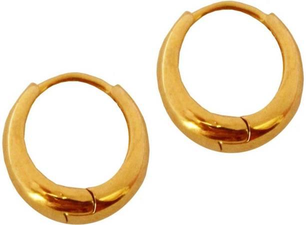 d3f3672d4f Shining Angel Trendy Unisex Pierced Gold Earrings for Girls/Boys/Men/Women  Stainless