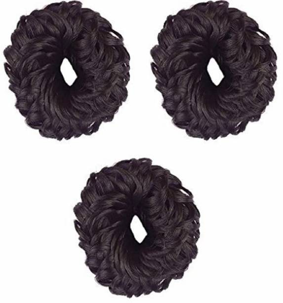 Shining Angel Small 3 Hair Juda Band Rubber Band Style, Black For Girls And Women Hair Band