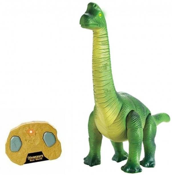 HALO NATION Dinosaur Brachiosaurus - Remote Control - Real Sound and Movements - Jurassic Park Theme …Brown