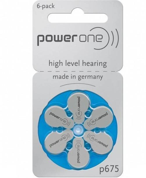 Power one P675 Hearing Aid Batteries 1.45V 1 patta (6 battery) Button Cells Stethoscope Case