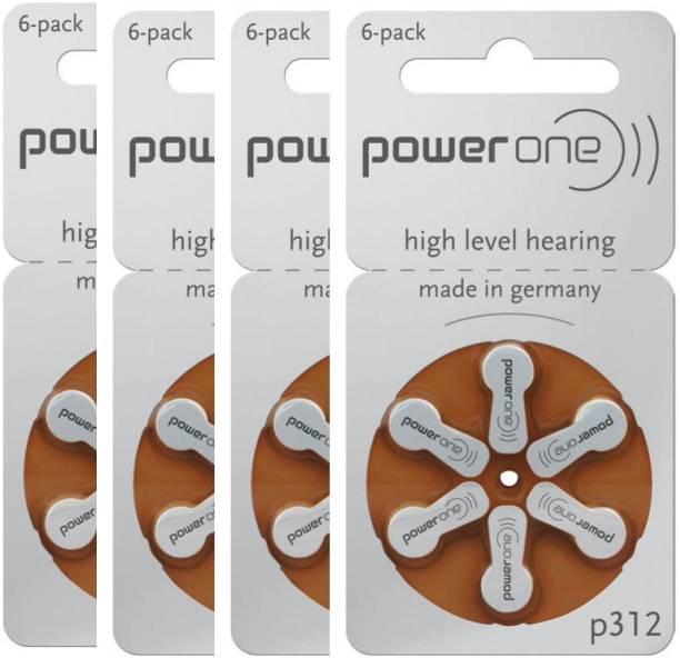 Power one P312 Hearing Aid Batteries 1.45V 4 patta (24 battery) Button Cells Stethoscope Case