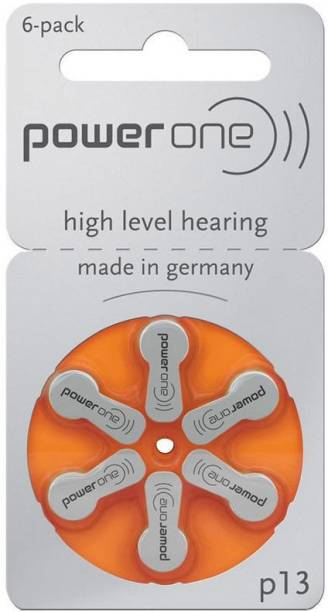 Power one P13 Hearing Aid Batteries 1.45V 1 patta (6 battery) Button Cells Stethoscope Case