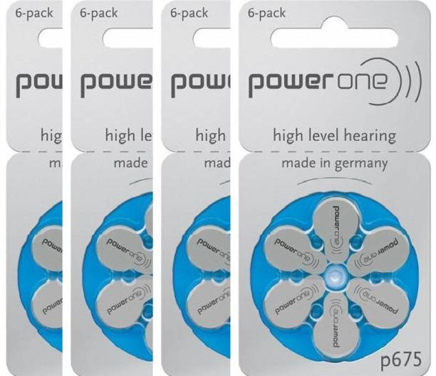 Power one P675 Hearing Aid Batteries 1.45V 4 patta (24 battery) Button Cells Stethoscope Case