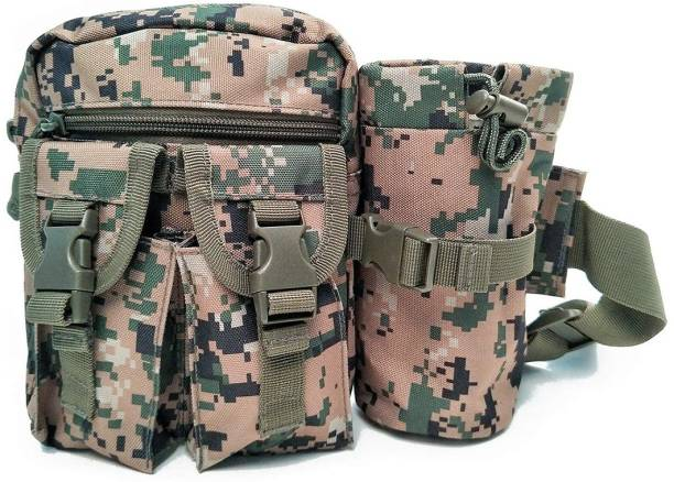 10c11c3cd1dd Futurekart Nylon Camo Waist Pack Bag Fanny Packs Waterproof Hip Belt Bag  Pouch for Hiking Climbing