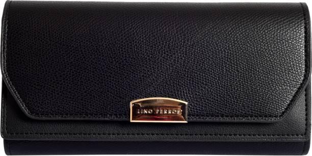 LINO PERROS Women Casual Black Artificial Leather Wallet
