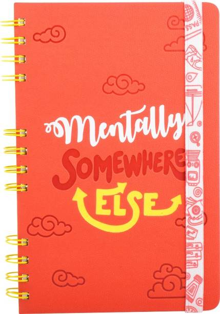 doodle Rumble Ruckus Notebook with Printed Elastic Band A5 Diary Ruled with 3 theme based inserts 160 Pages