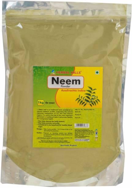 Herbal Hills Neem patra powder - 1 kg powder - Pack of 2