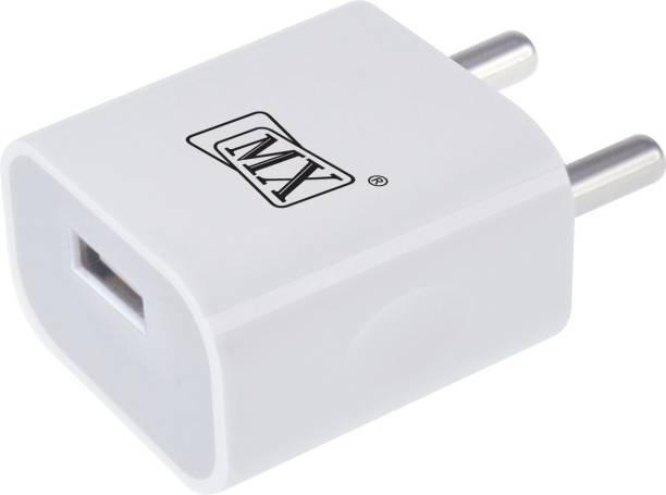 MX 5V 2Amp Super Fast Charger for all Mobile Phones 12 W 2.1 A Mobile Charger with Detachable Cable