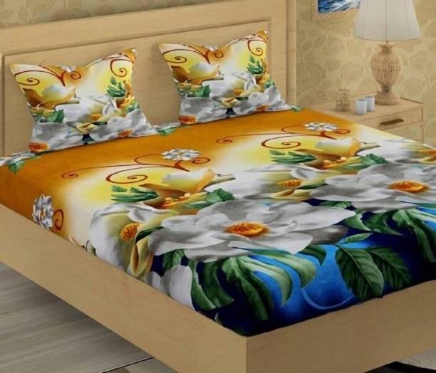 New Click Shop 110 TC Polycotton Double Floral Bedsheet