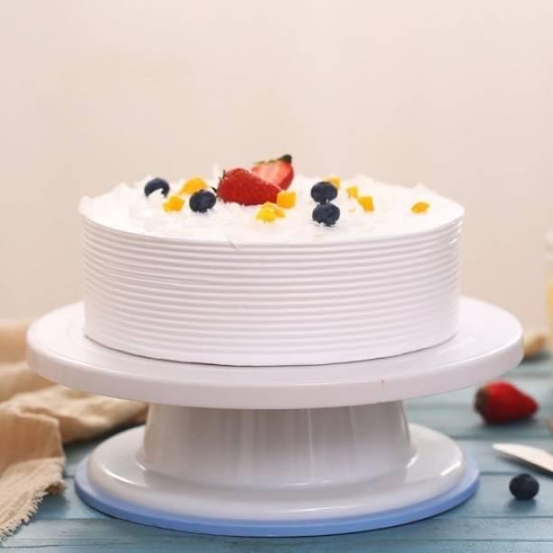 CLOMANA NEW AND ORIGINAL Cake Turn Table | Cake_Turntable_360_Rotataion Plastic Cake Server|(MULTICOLOR) Plastic Cake Server